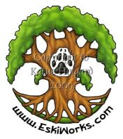 Eskiworks and Wolf Nymph Logo by KatieHofgard