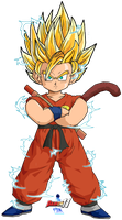 Kid Goku SSJ2 by Dairon11