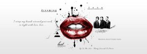 Fb Cover Up In The Air Red Black White by lovelives4ever