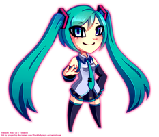 .: Miku :. by gingie-lily