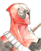 Watercolour Deadpool by WesleyRiot