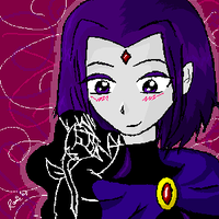 Raven and a Rose by DannyPhantomFreek