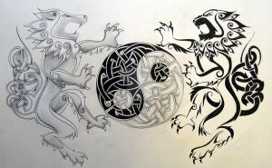 Celtic Yin Yang by knotty-inks