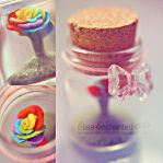 Rainbow bottle by EliseEnchanted