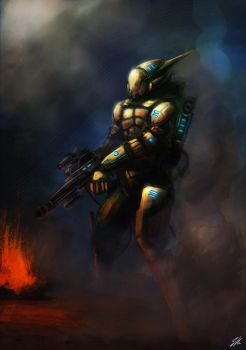 Alien Soldier by ApneicMonkey
