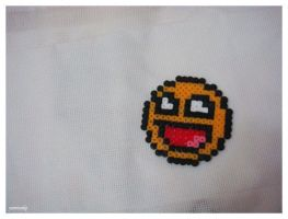 Perler Beads: Awesome Smiley by Yamisuke