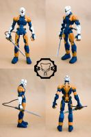 Custom Gray Fox action figureA by SomaKun