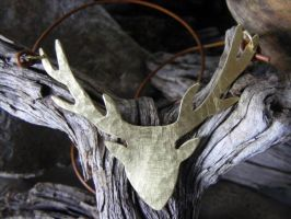 Large Deer Necklace by MoonLitCreations