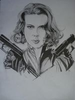Black widow ,avengers movie (scarlett johansson) by ARTIEFISHEL79