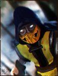 Scorpion Cosplay Self Portrait by acdramon