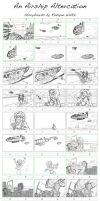 An Airship Altercation  Storyboards - Old by RozlynnWaltz