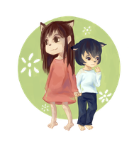 Wolf Children: Ame And Yuki by Yiamme