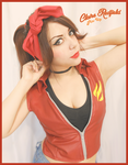 Claire Redfield Pin-Up style by Vicky-Redfield