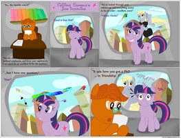 MLP - Twilight's job interview by UltraTheHedgetoaster