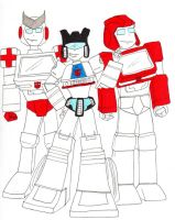 Jazz, Ironhide and Ratchet by PurrV