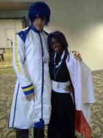 Vocaloid Kaito and Captain Yoruichi by Linked-Memories-21