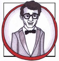 Guy in Glasses by estranged-illusions