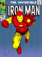 Iron Man by Nichols colored by statman71