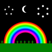 midnight rainbow by 10binary