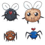 Binding of Isaac Rebirth: Some Fluffy Bugs by VernFeathers