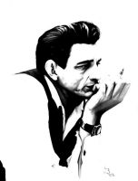 Johnny Cash by ruddiger