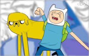 Finn and Jake by Queenof-The-Darkness