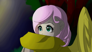 With Fluttershy (ANIMATED) by xxxBlancat