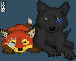 Wolf Pups - Stormy and Ruby by toast4nat