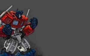 Optimus Prime Wallpaper by iPanic