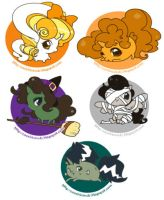 Halloween ponies by zambicandy