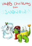 Merry Christmas from Snowdin by Hedgey