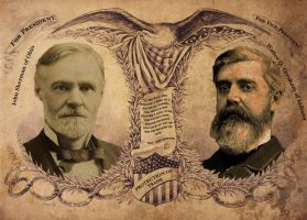 1888 Republican Presidential Ticket by LordRoem