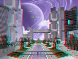 Future City, 3D by The-Ronyn