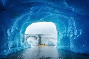 Inside a floating glacier by porbital