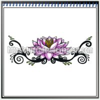 Tattoo Design 009 - Lotus by StriderDen