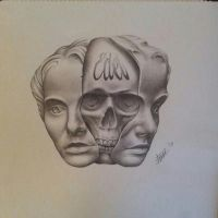 two faced skull WiP final by MagnaSicParvis