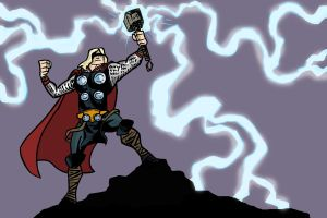 Thor The Mighty Avenger by mattcrap