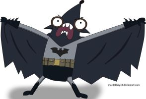 Rigby Batman by Mordekhay33