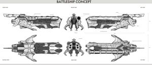 Battleship concept all 6 views by JetHeart