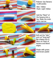 Polymer Clay : Banana Tutorial by CraftCandies
