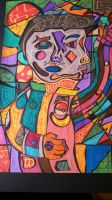 School Art: Cubism Self Portrait by Buizelfreak
