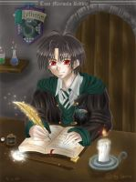 tom riddle and his diary by geta-chan
