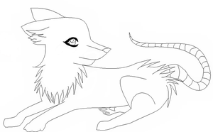 Demon Wolf Lineart by Soulver