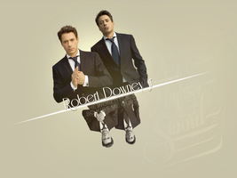Collage Robert Downey jr by MissBlackWhite