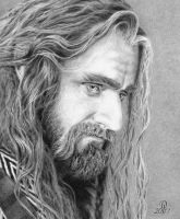 Richard Armitage as Thorin Oakenshield, The Hobbit by DarqueJackal