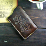 Doctor Who inspired leather phone case by gumex