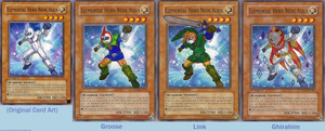 Zelda Skyward Sword Yu-Gi-Oh Cards by VickyViolet