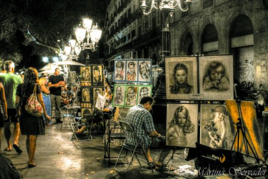 Artists in Barcelona by Martina31