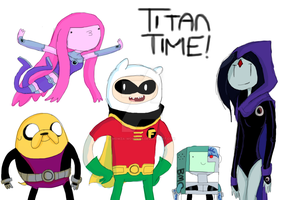 Teen Titans Time by Wowza-Wowzers