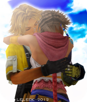TIDUS AND YUNA by LELERK